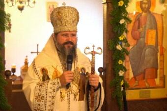 """Episcopul Macarie de sărbătoarea Sfântului Cuvios Macarie Romanul: """"Viața în Hristos nu este doar pentru episcopi, doar pentru preoți, doar pentru călugări, ci pentru toți!"""", Mănăstirea Ikast, Danemarca, 23 octombrie 2021"""