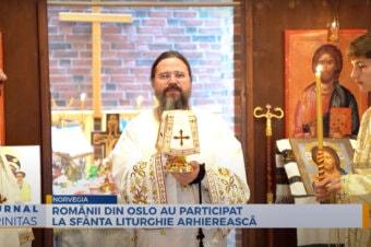 Românii din Oslo au participat la Sfânta Liturghie arhierească (preluare TRINITAS.TV)